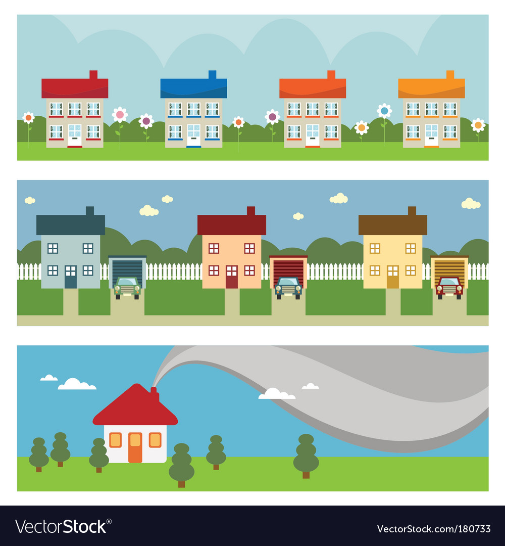 House banners vector | Price: 1 Credit (USD $1)