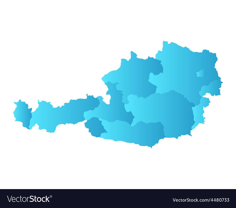 Map of austria vector   Price: 1 Credit (USD $1)