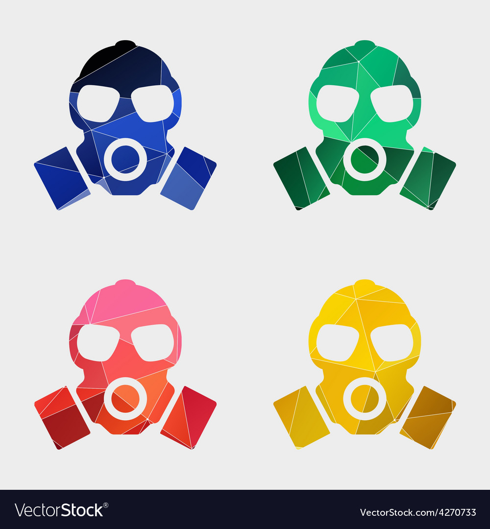 Respirator icon abstract triangle vector | Price: 1 Credit (USD $1)