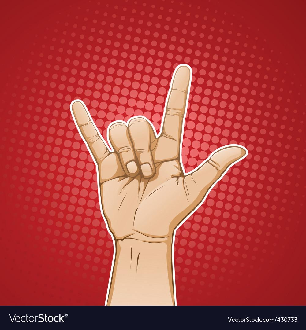 Rock sign color vector | Price: 3 Credit (USD $3)