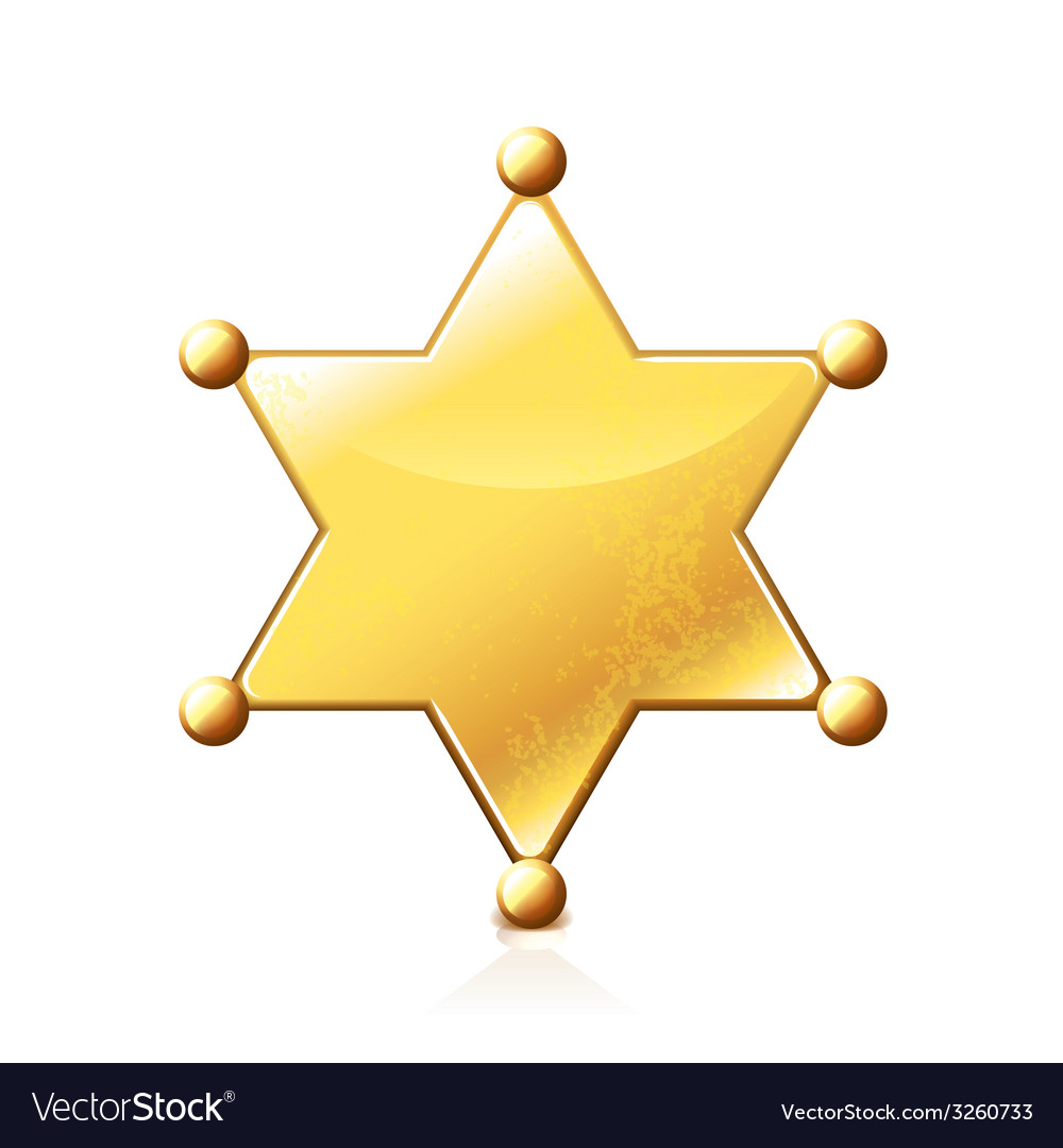 Sheriff star isolated vector | Price: 1 Credit (USD $1)