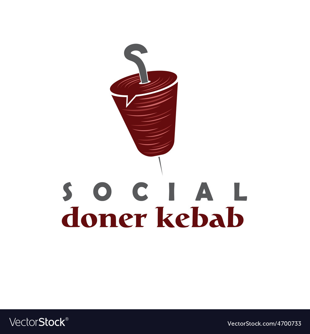 Social doner kebab concept design template vector | Price: 1 Credit (USD $1)