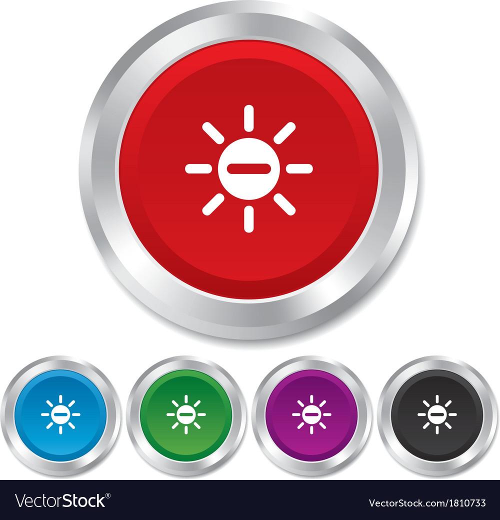 Sun minus sign icon heat symbol brightness vector   Price: 1 Credit (USD $1)