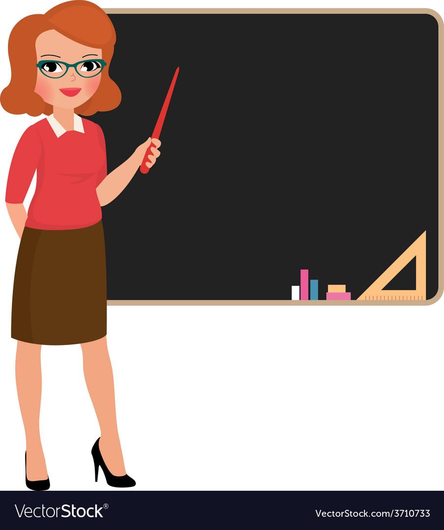Teacher at the blackboard vector | Price: 1 Credit (USD $1)