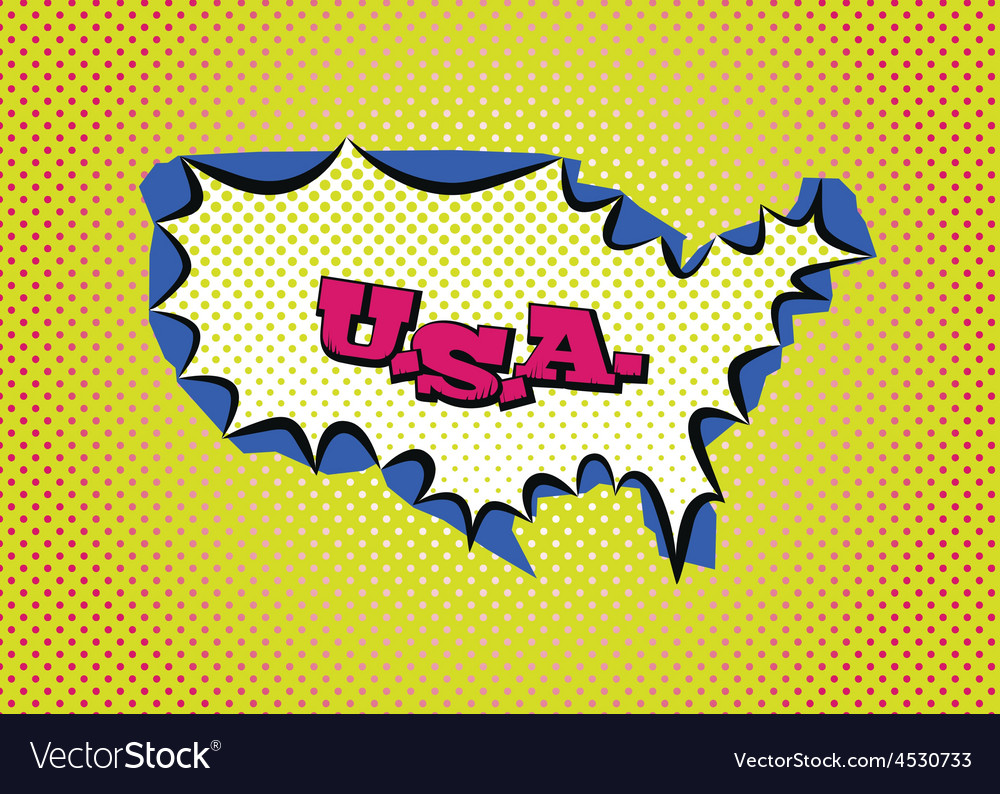 United states of america vector | Price: 1 Credit (USD $1)
