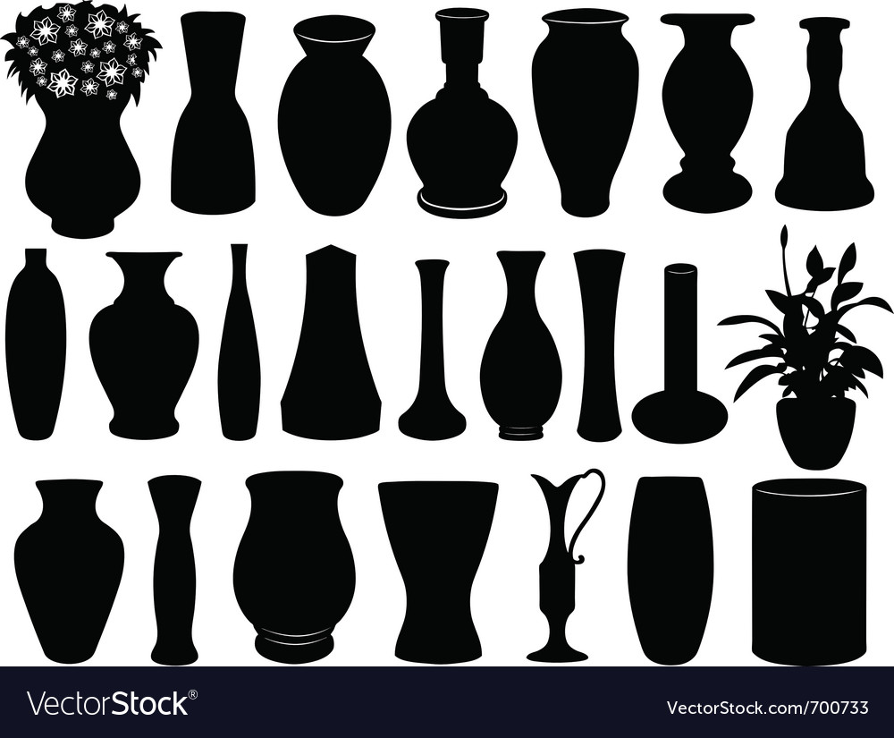 Vase set vector | Price: 1 Credit (USD $1)