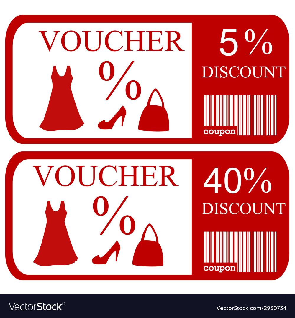 5 and 40 discount vouchers vector | Price: 1 Credit (USD $1)