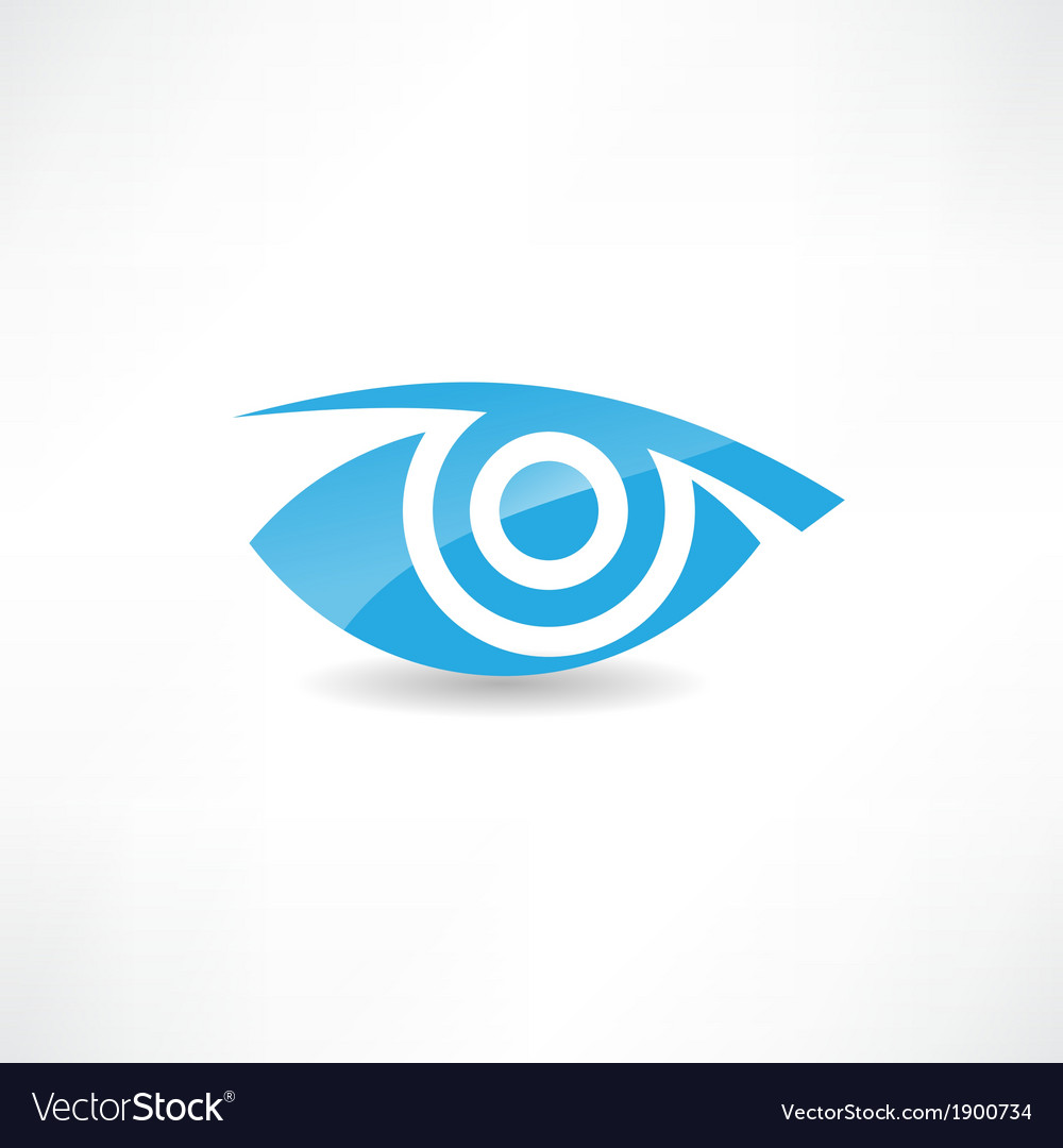 Abstract eye icon vector | Price: 1 Credit (USD $1)