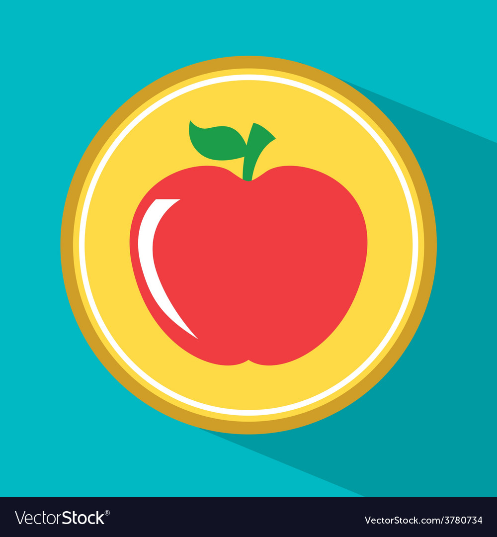Apple fruit vector | Price: 1 Credit (USD $1)