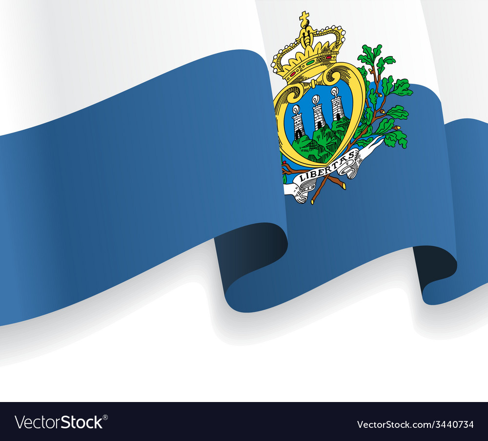 Background with waving san marino flag vector | Price: 1 Credit (USD $1)