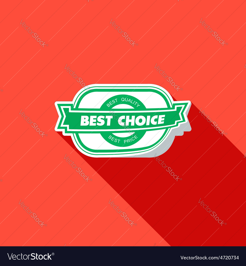 Best choice label  flat vector | Price: 1 Credit (USD $1)
