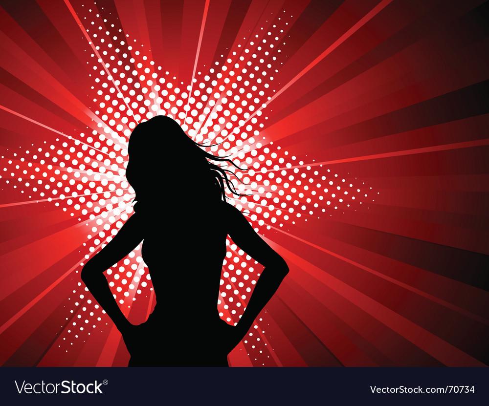 Female starburst vector | Price: 1 Credit (USD $1)
