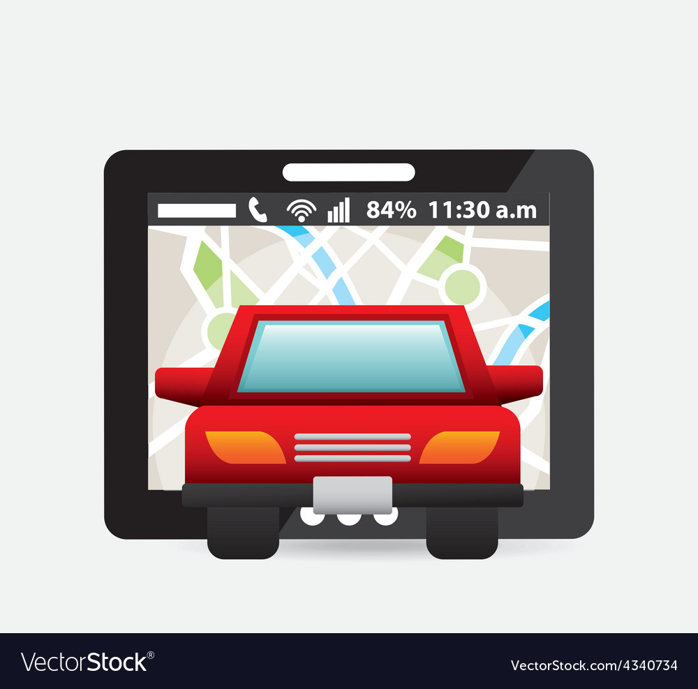 Gps concept vector | Price: 1 Credit (USD $1)