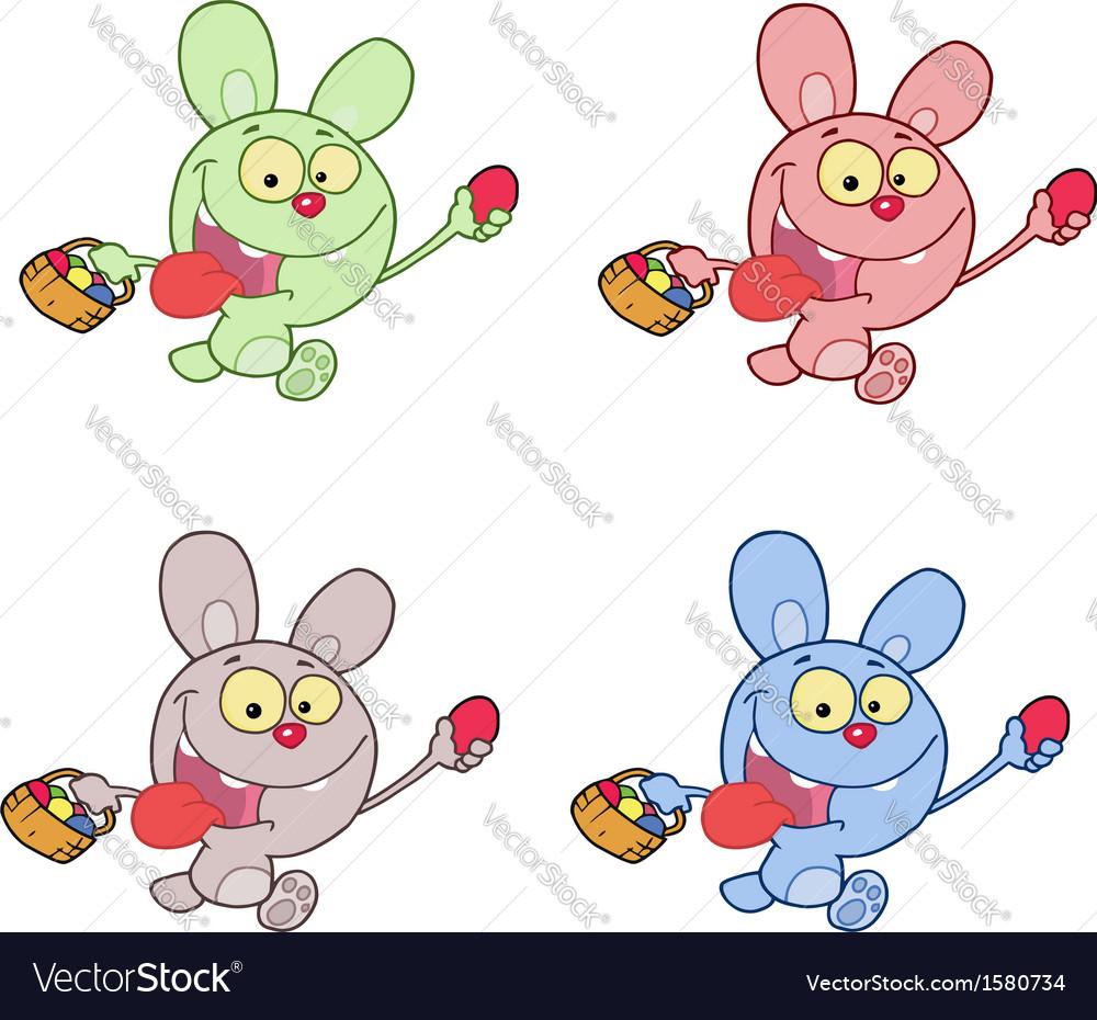 Jack rabbit cartoon easter vector