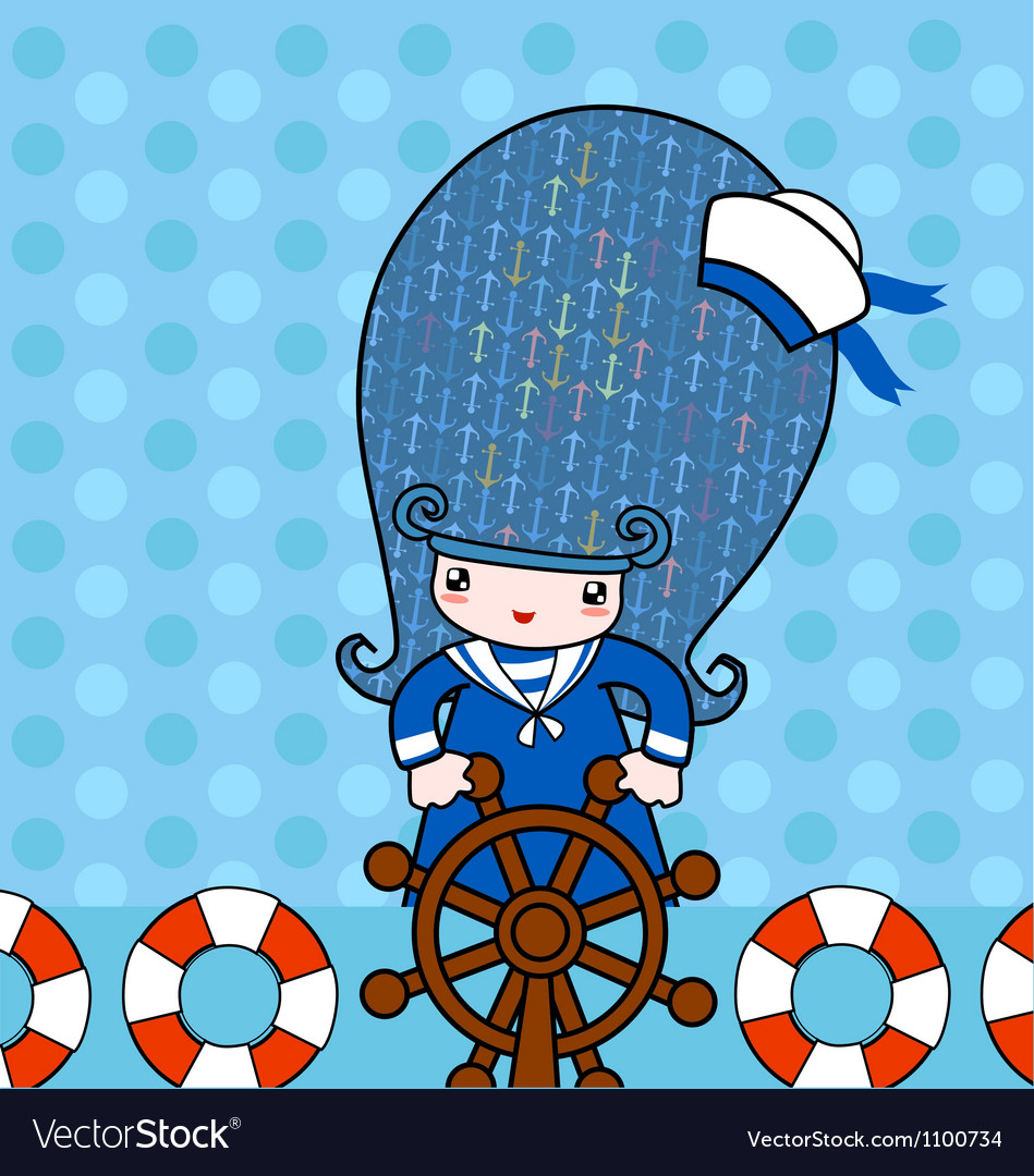 Little sailor vector | Price: 1 Credit (USD $1)