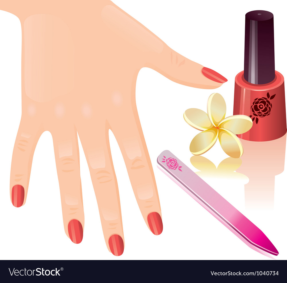 Manicure vector | Price: 1 Credit (USD $1)