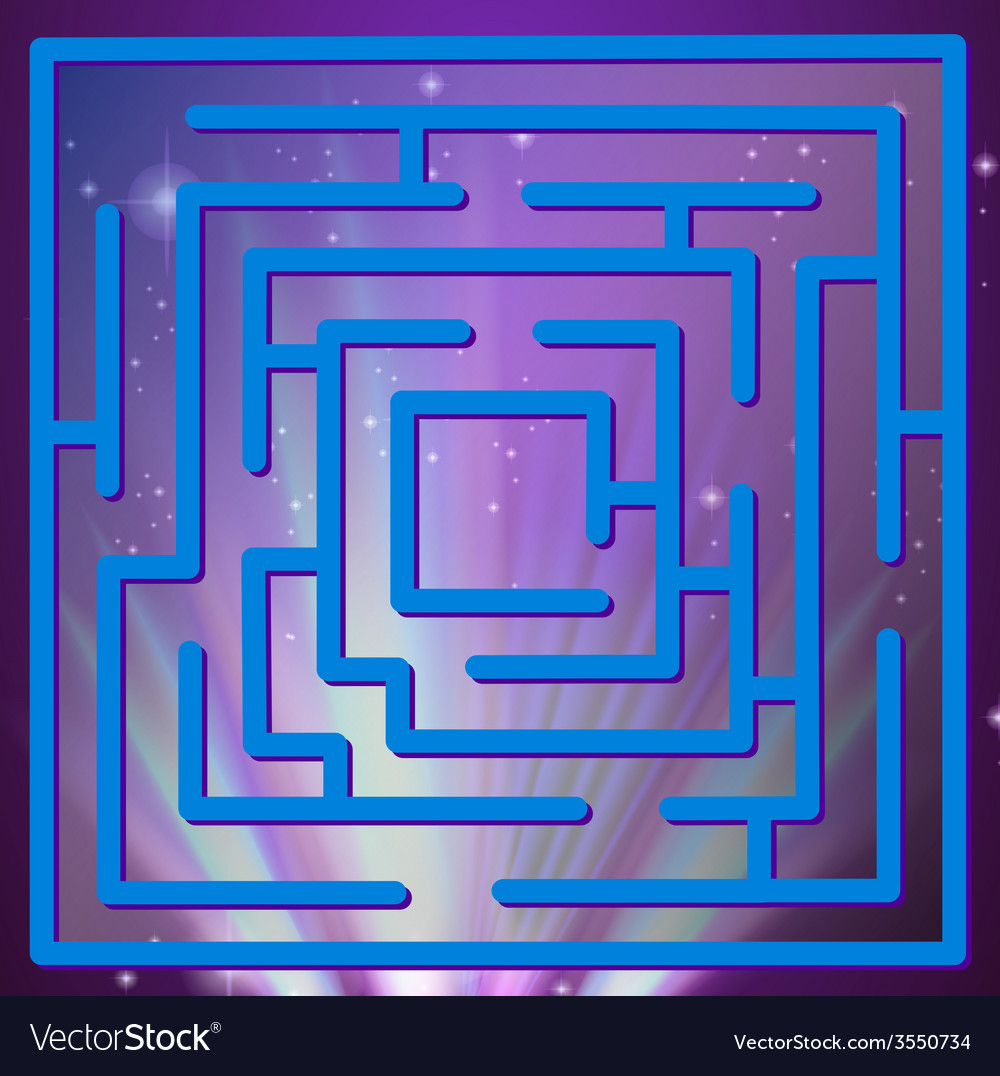 Maze game vector | Price: 1 Credit (USD $1)