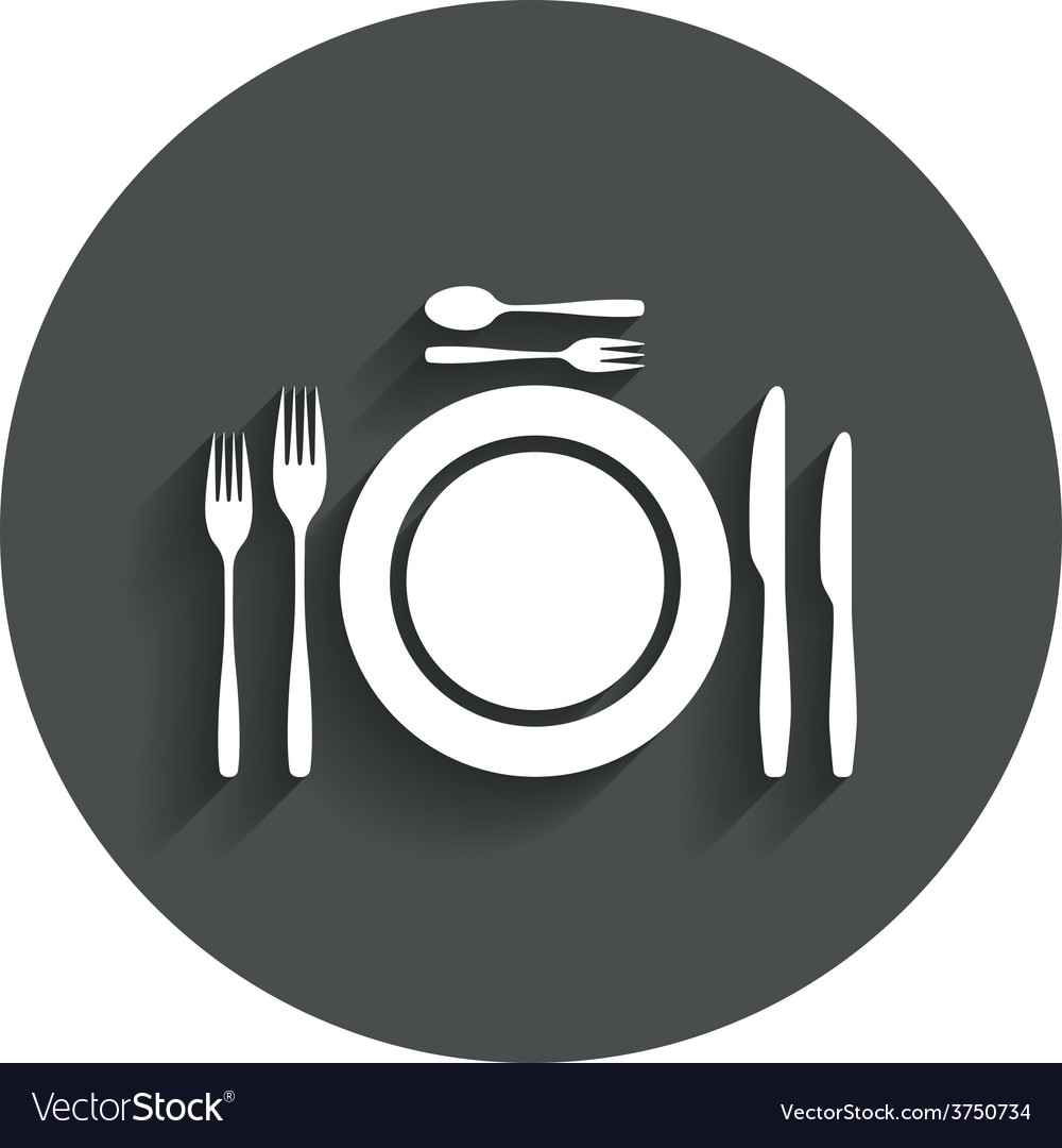 Plate dish with forks and knifes vector   Price: 1 Credit (USD $1)