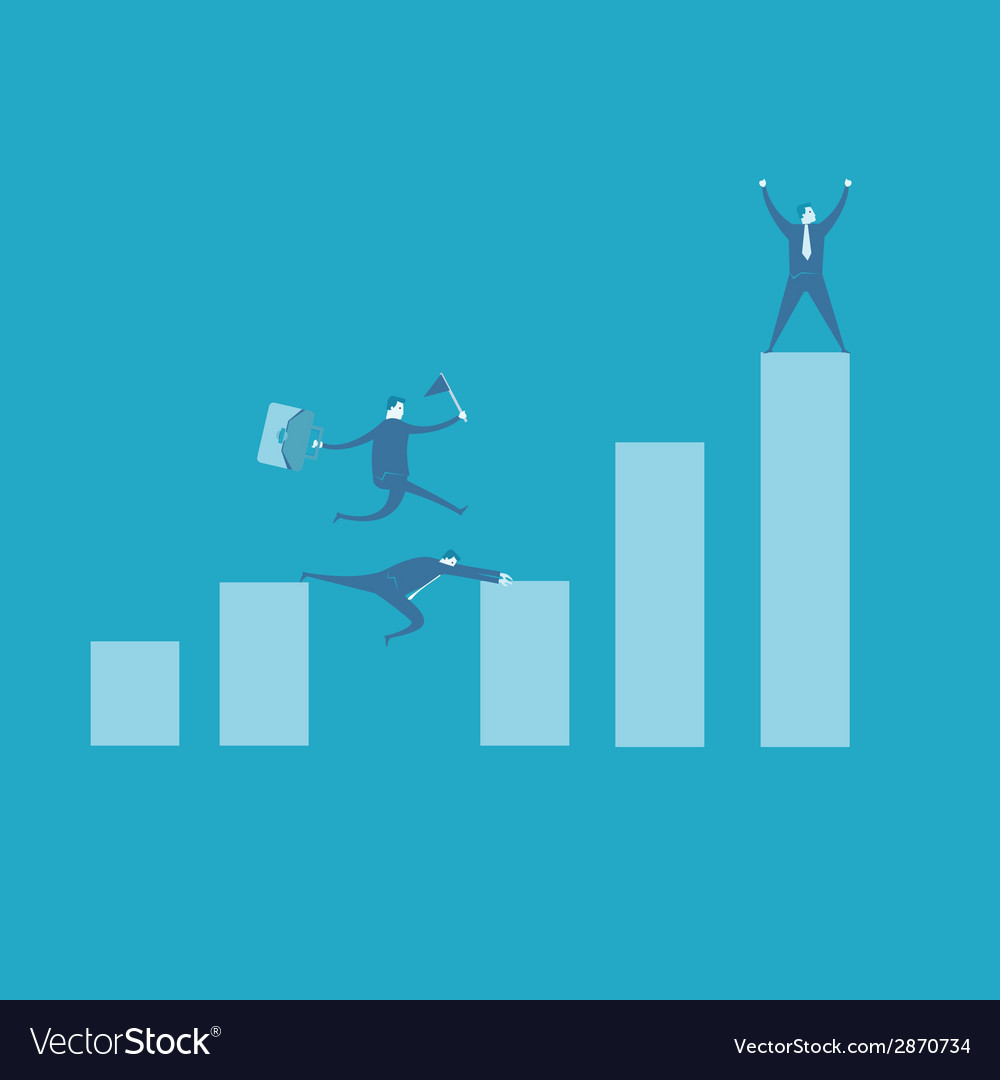 Teamwork concept with running businessman vector | Price: 1 Credit (USD $1)