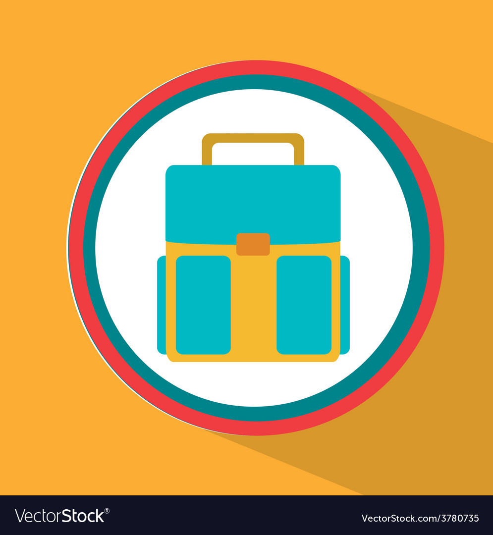 Bag school vector | Price: 1 Credit (USD $1)