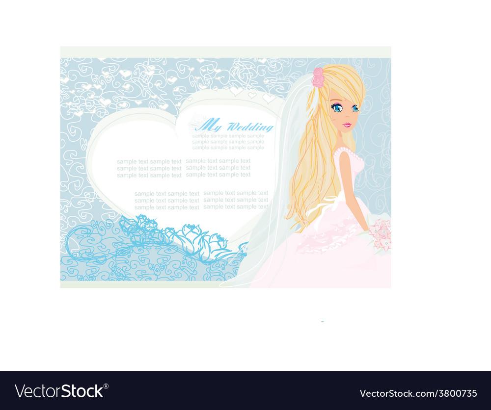 Beautiful bride card vector | Price: 1 Credit (USD $1)