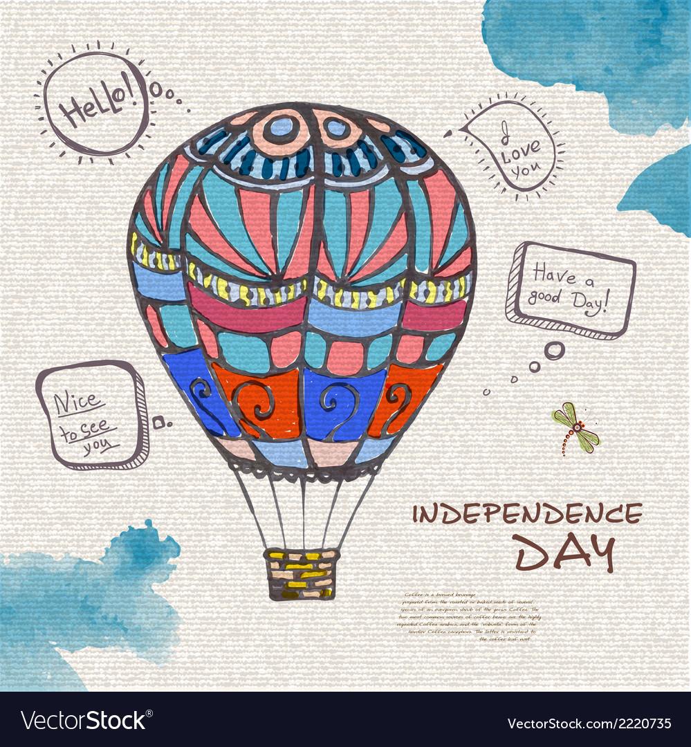 Decorative sketch of balloon vector | Price: 1 Credit (USD $1)