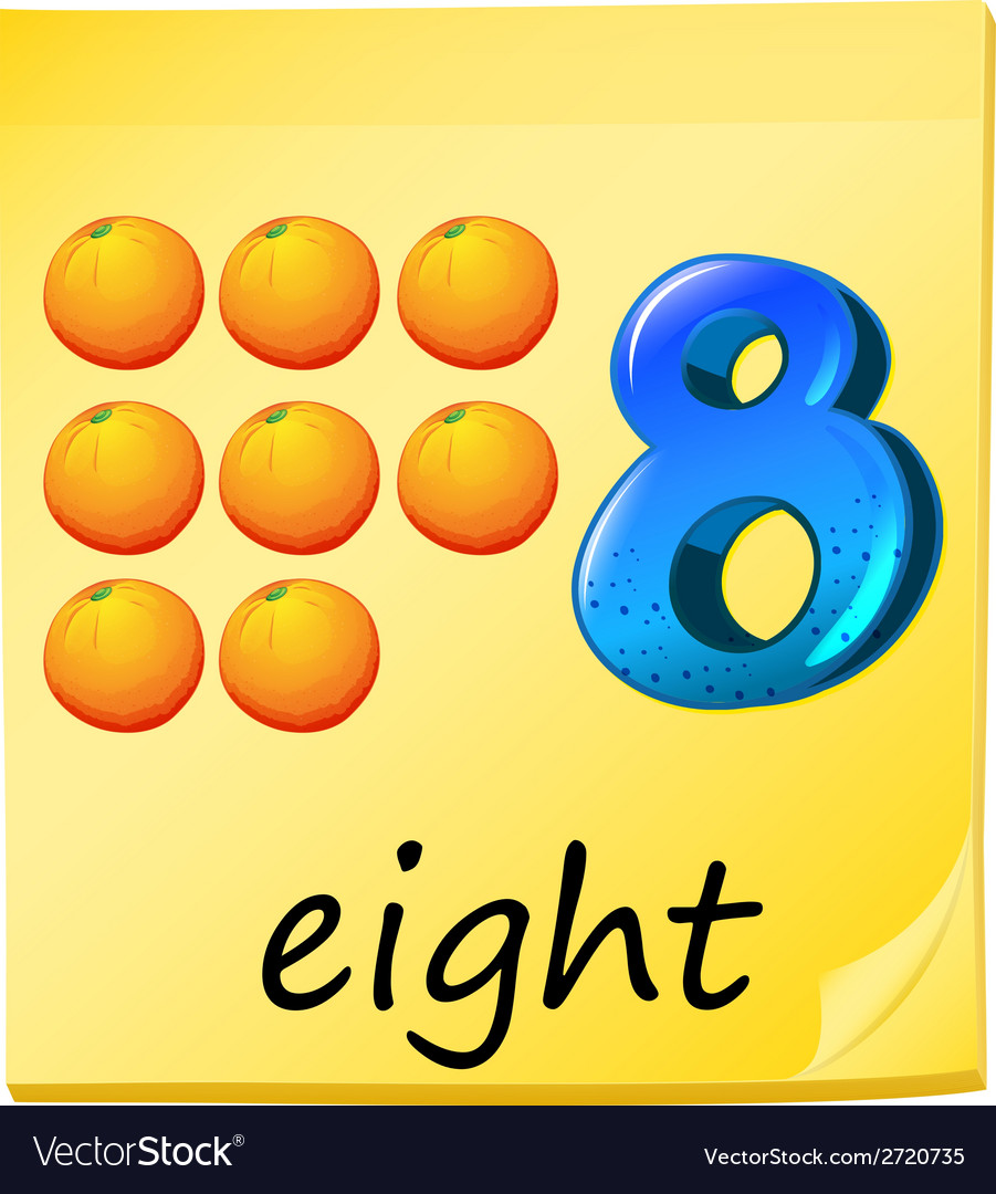 Eight oranges vector | Price: 1 Credit (USD $1)