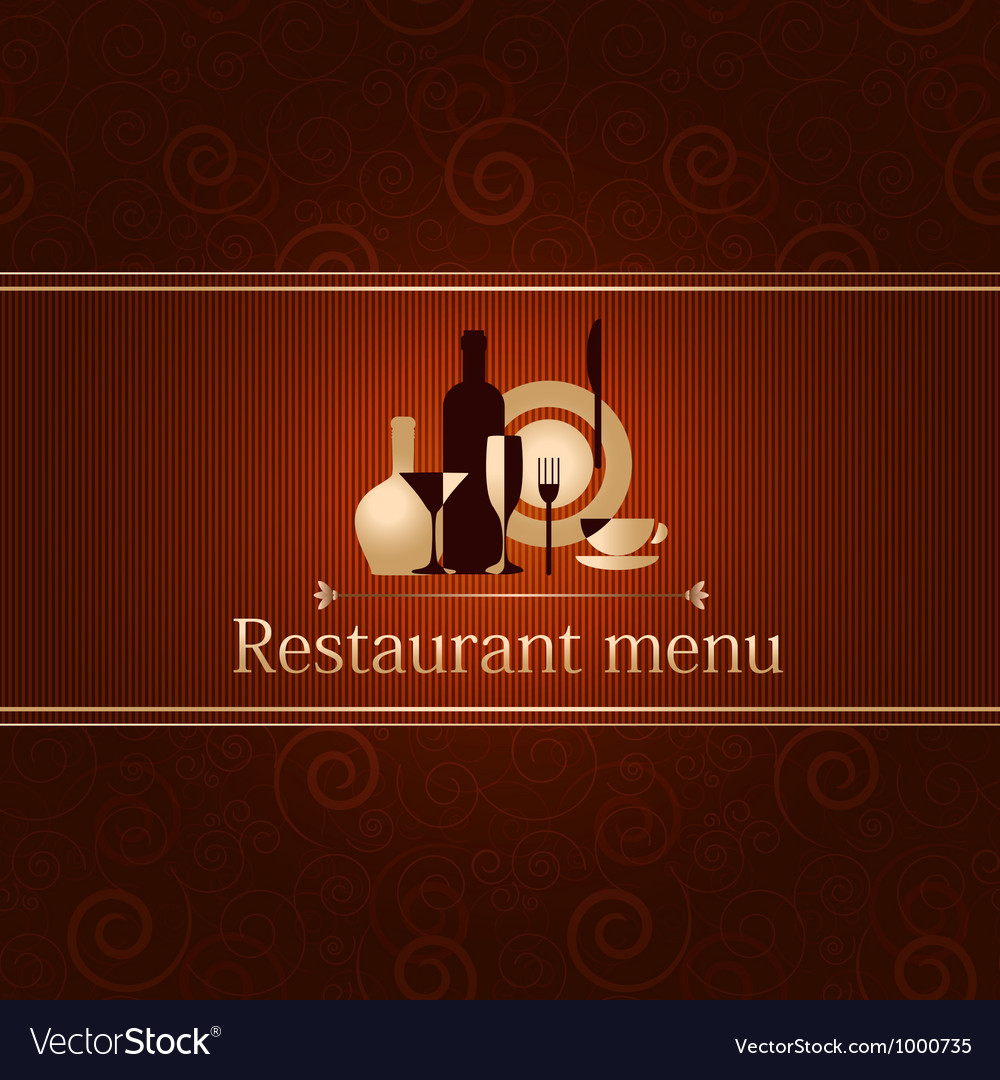Luxury template for a restaurant menu vector | Price: 1 Credit (USD $1)