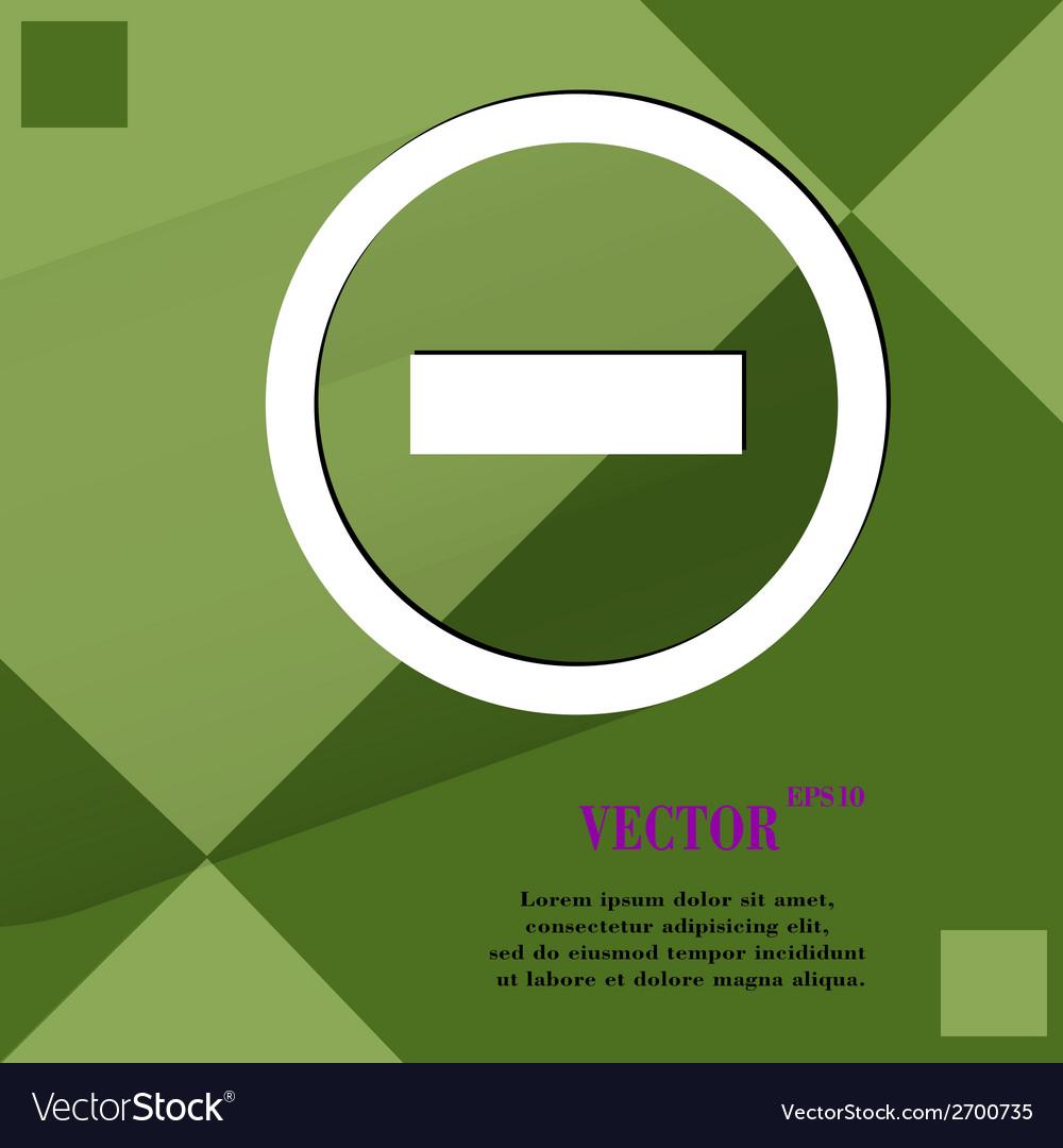 Minus flat modern web design on a flat geometric vector | Price: 1 Credit (USD $1)