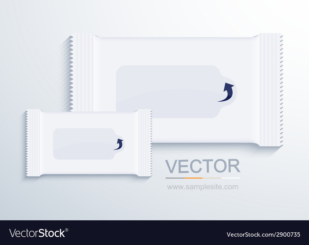 Modern packaging for wet wipes vector | Price: 1 Credit (USD $1)
