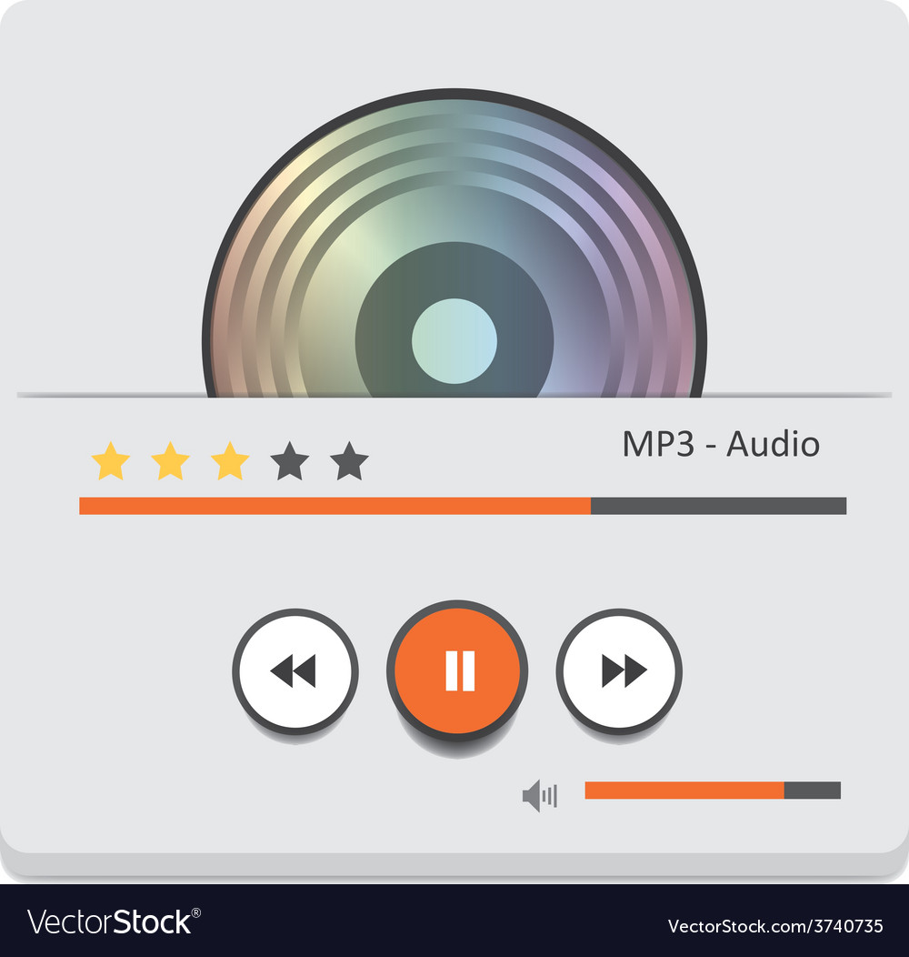 Music player 45 vector | Price: 1 Credit (USD $1)