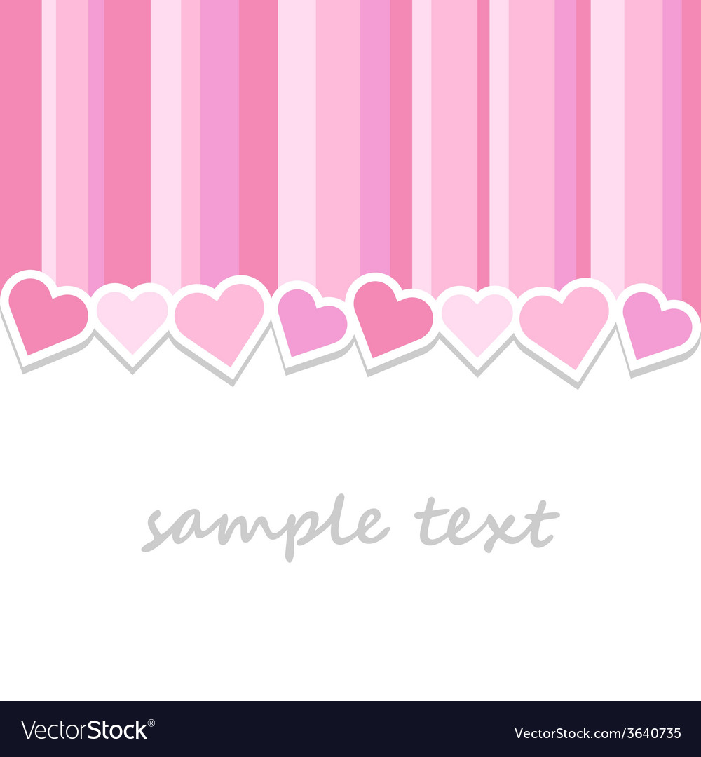 Pink valentine day greeting card background vector | Price: 1 Credit (USD $1)