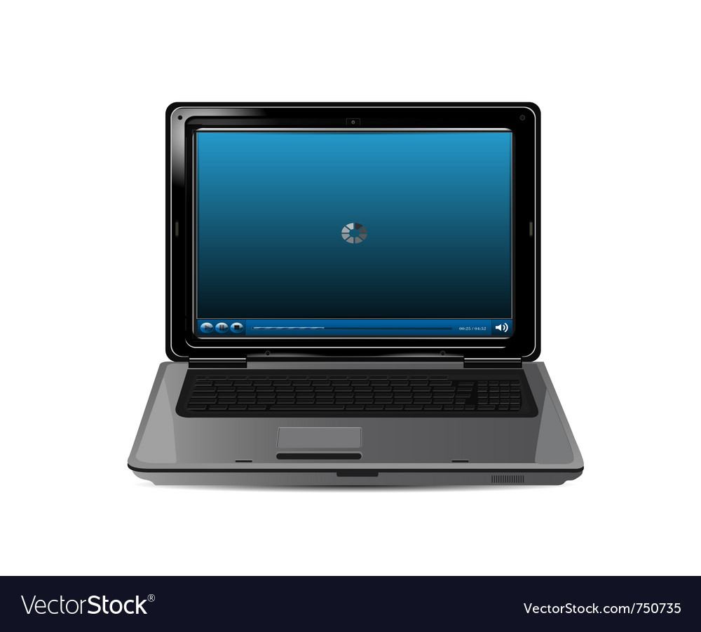 Realistic laptop vector | Price: 1 Credit (USD $1)