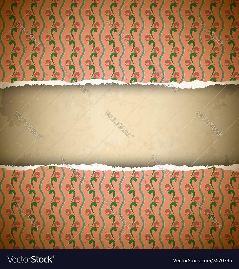 Torn pink ornamental wallpaper vector | Price: 1 Credit (USD $1)