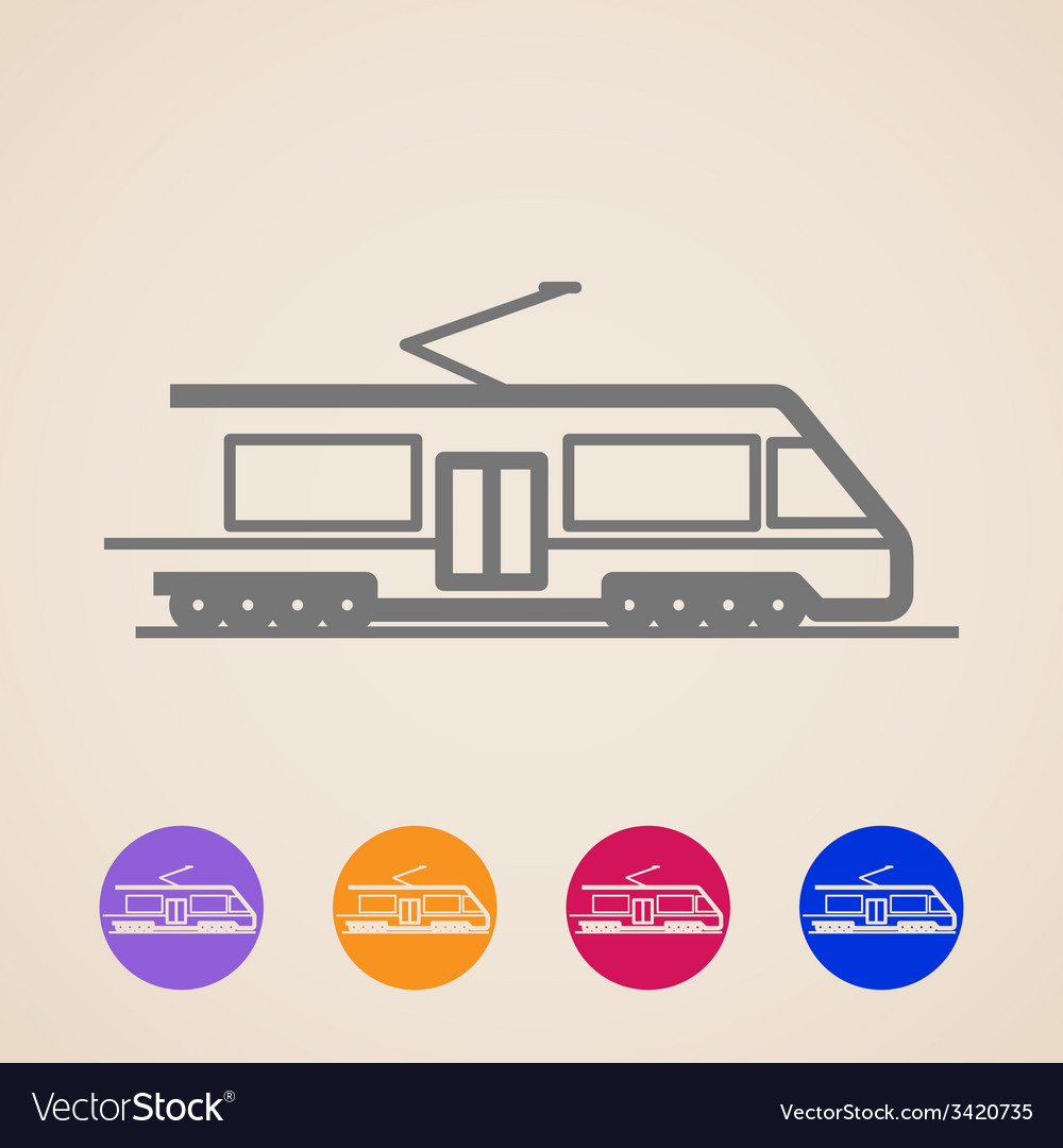 Train icons vector | Price: 1 Credit (USD $1)
