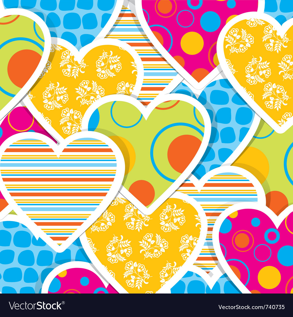 Valentine heart pattern vector | Price: 1 Credit (USD $1)