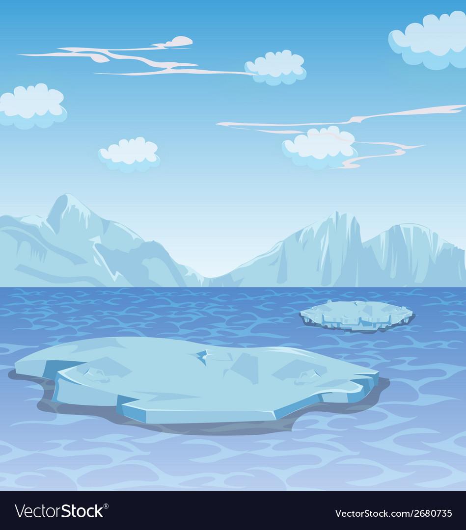 Winter frozen lake background vector | Price: 1 Credit (USD $1)