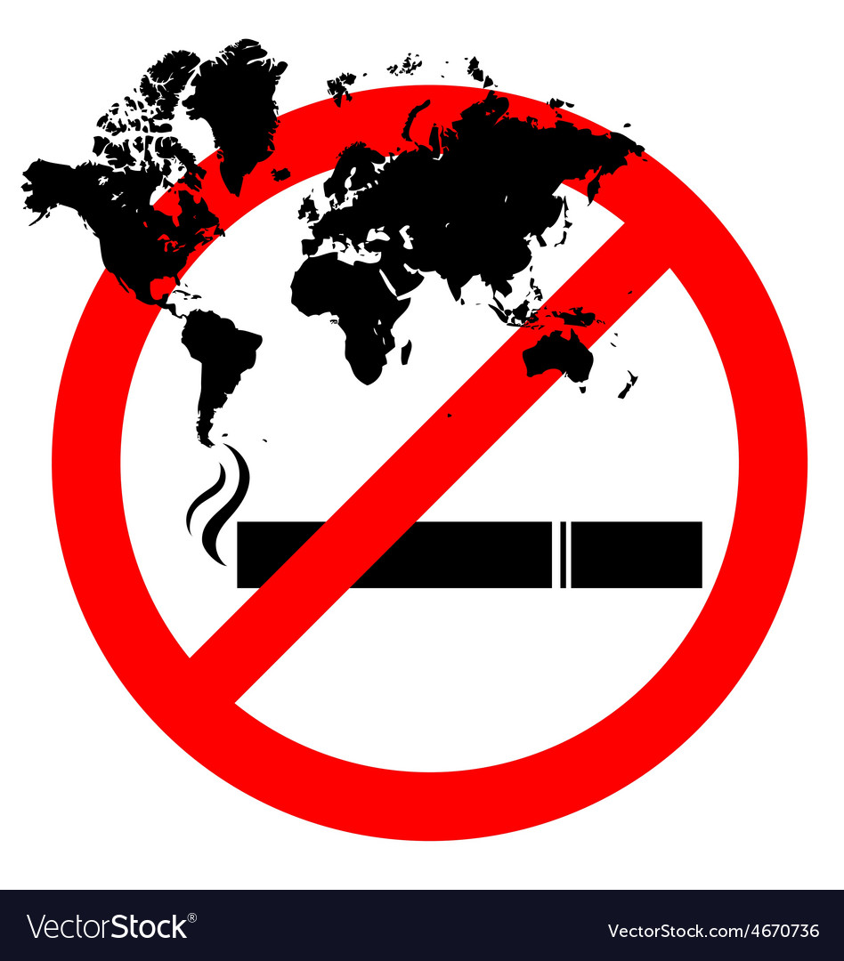 Abstract prohibiting smoking sign for world no vector | Price: 1 Credit (USD $1)