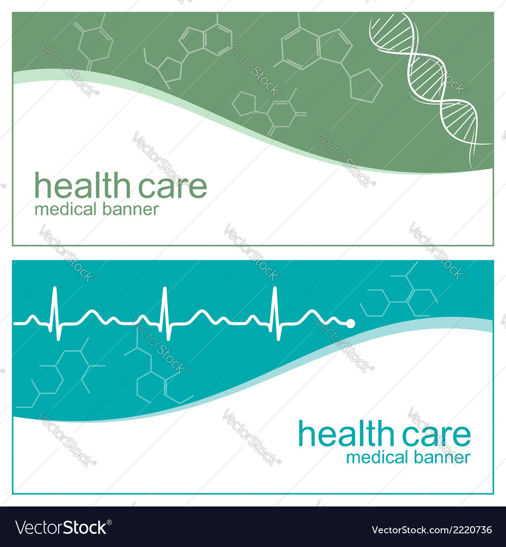 Cardiogram banners vector | Price: 1 Credit (USD $1)