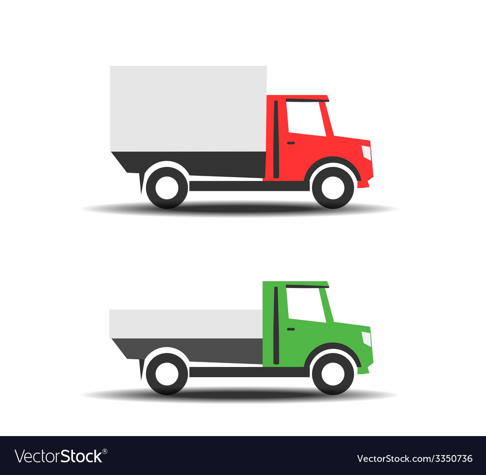 Delivery trucks icons vector | Price: 1 Credit (USD $1)