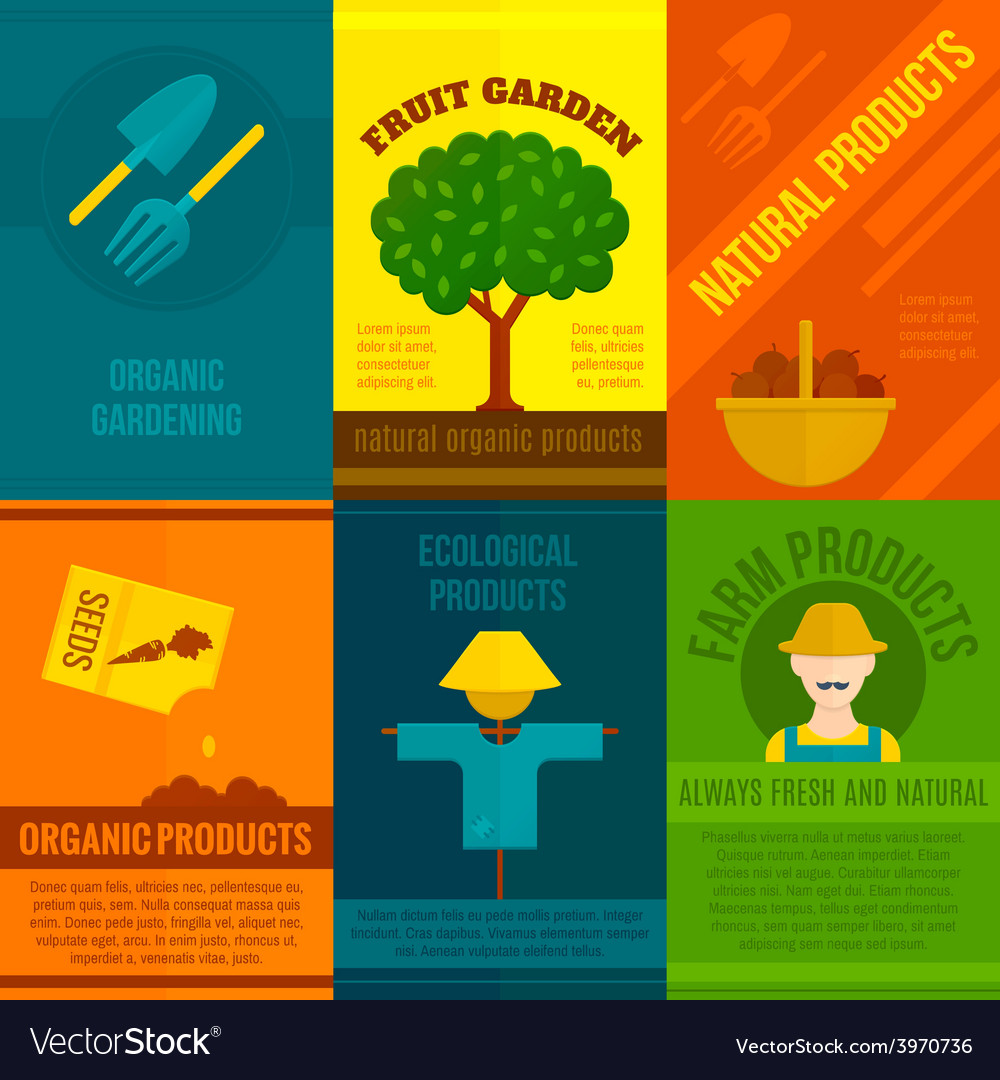 Ecological posters set vector | Price: 1 Credit (USD $1)