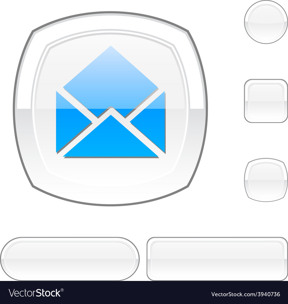 E-mail white button vector | Price: 1 Credit (USD $1)