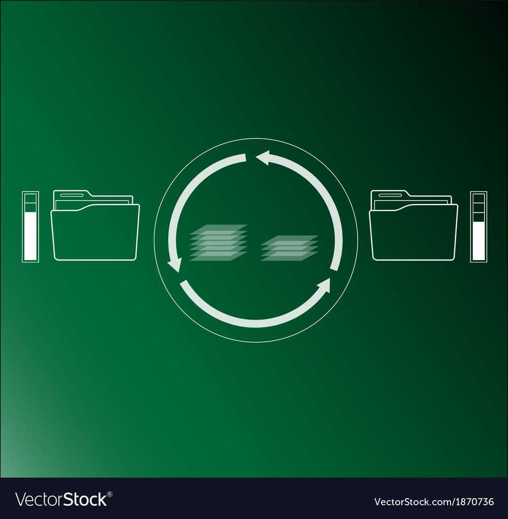Folder filer transfer vector | Price: 1 Credit (USD $1)