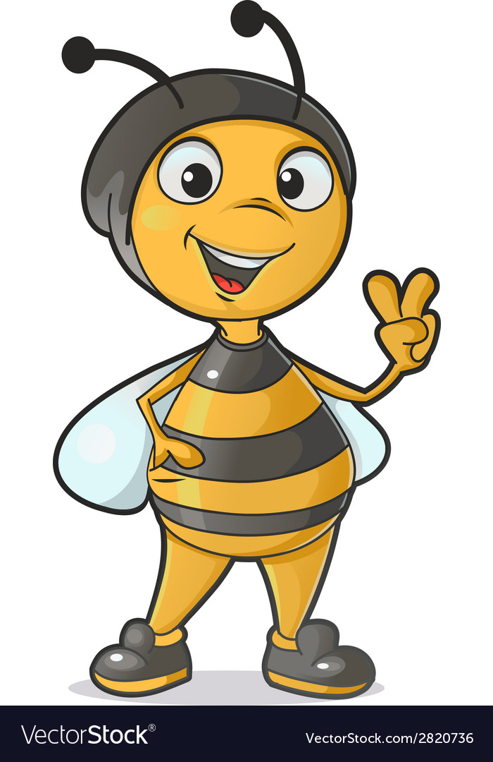 Funny bee vector   Price: 1 Credit (USD $1)