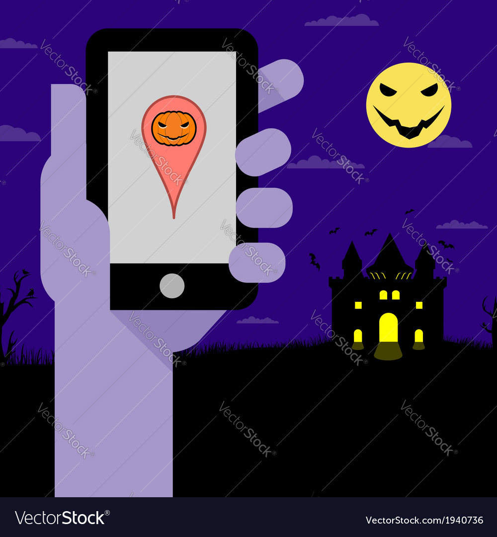 Halloween night party vector | Price: 1 Credit (USD $1)