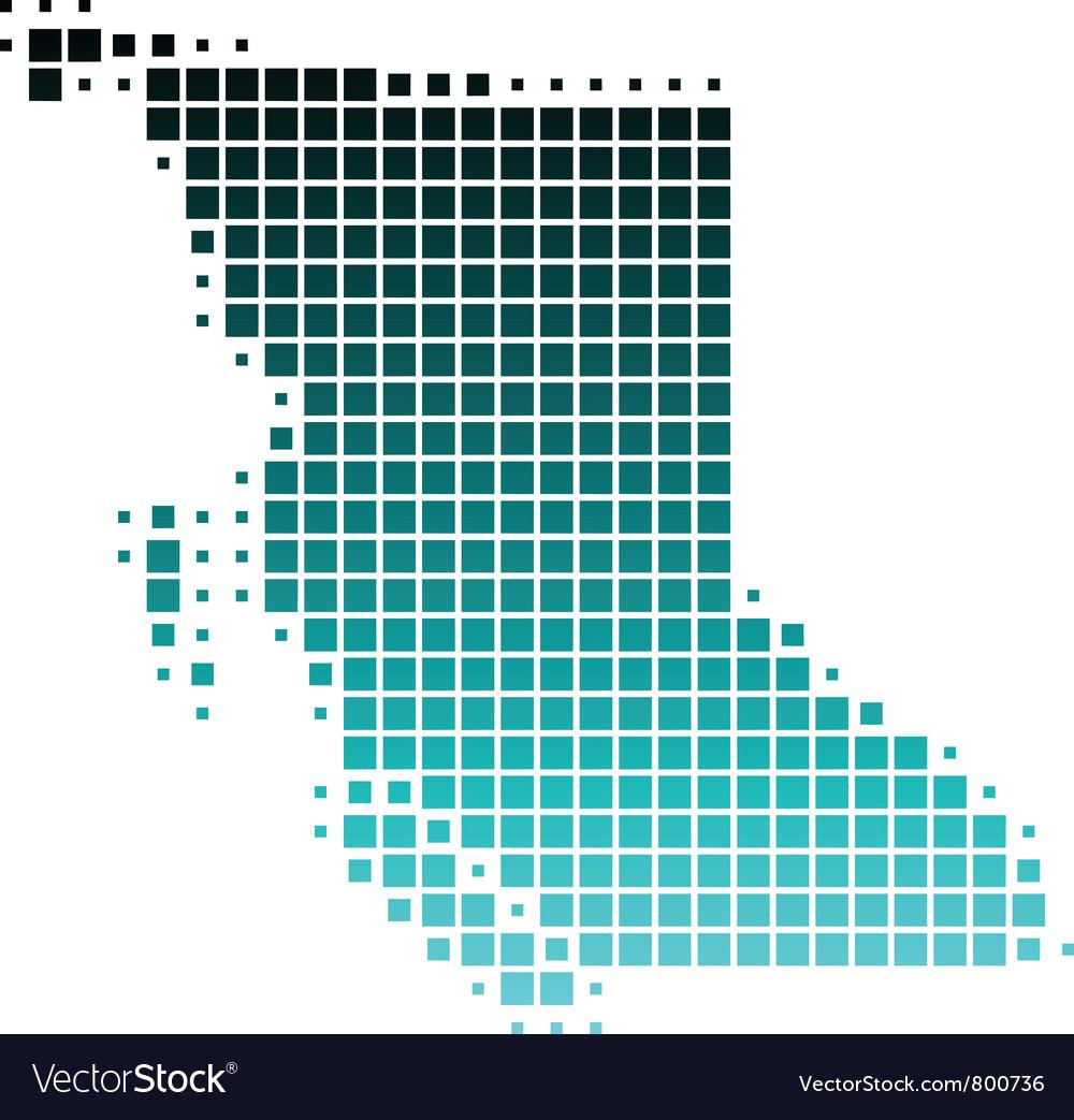 Map of british columbia vector | Price: 1 Credit (USD $1)
