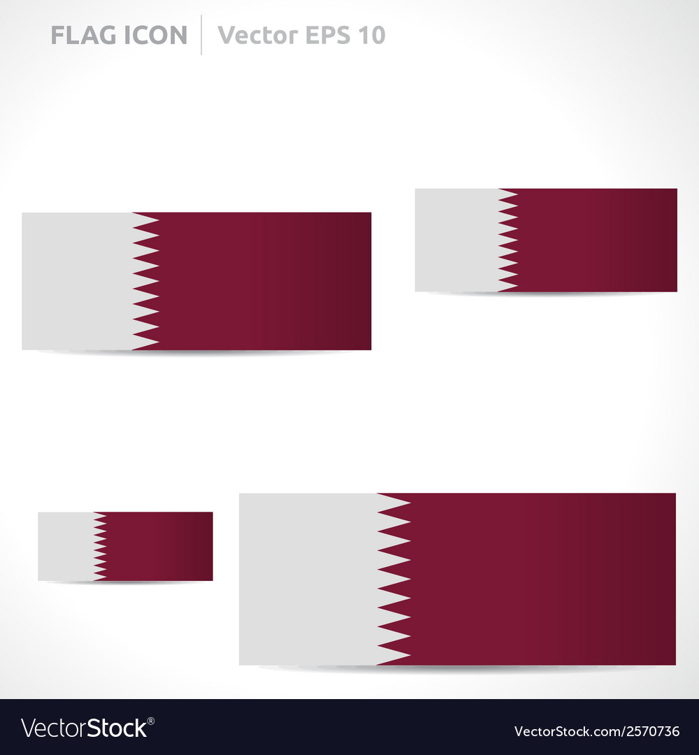 Qatar flag template vector | Price: 1 Credit (USD $1)