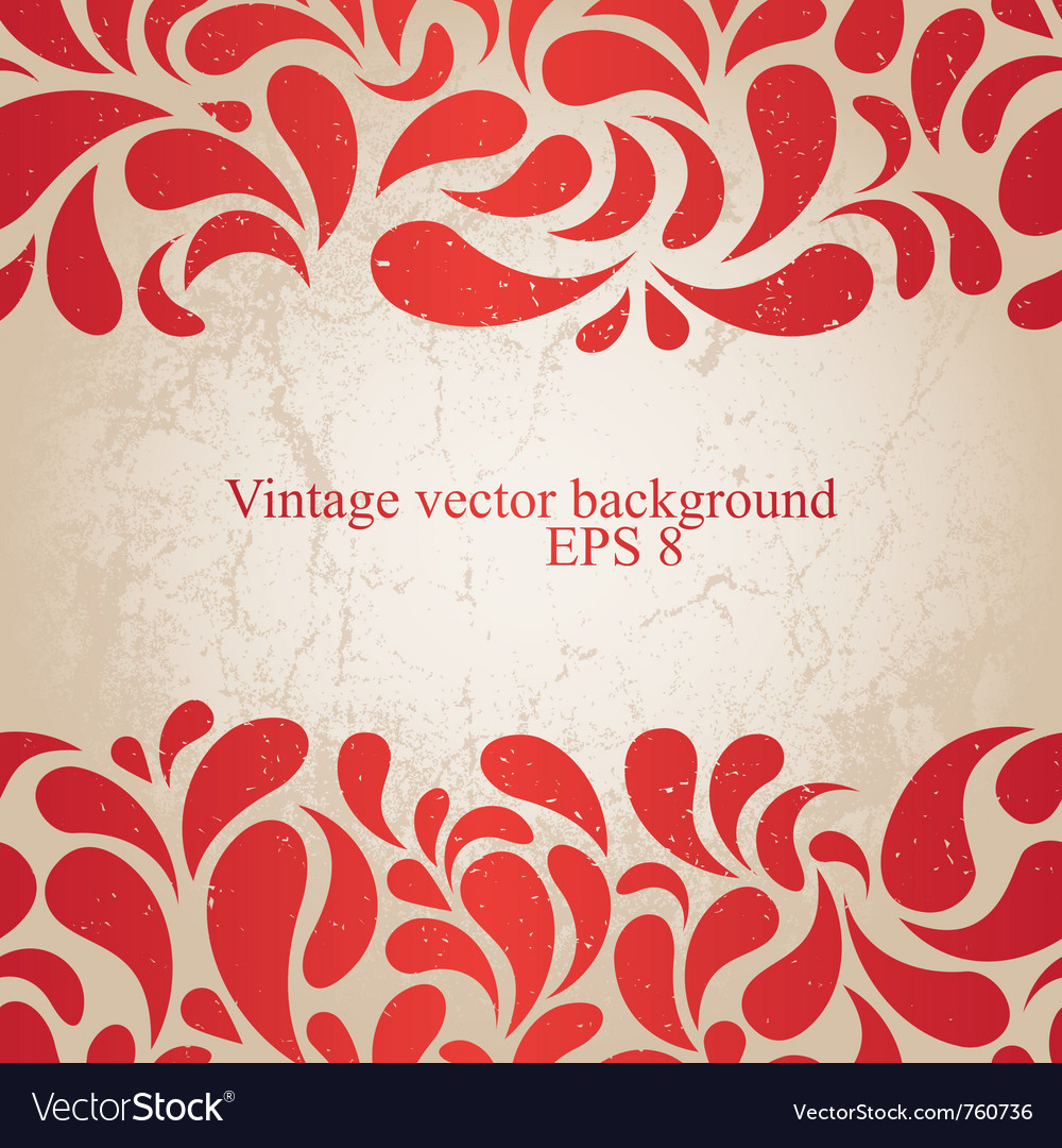 Red vintage background vector | Price: 1 Credit (USD $1)