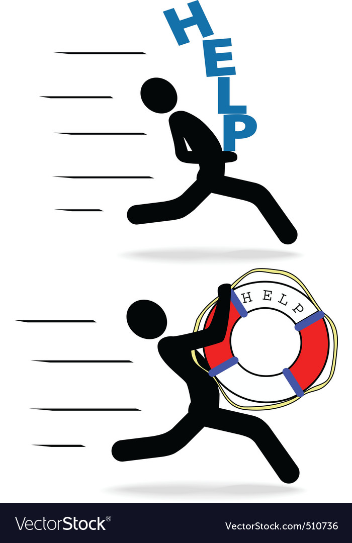 Speedy people help hurry fast delivery vector   Price: 1 Credit (USD $1)