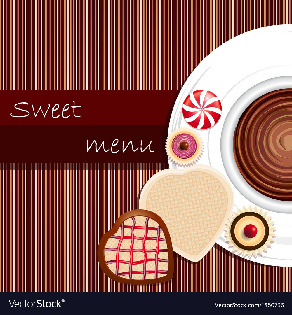 Template of a sweet menu vector | Price: 1 Credit (USD $1)